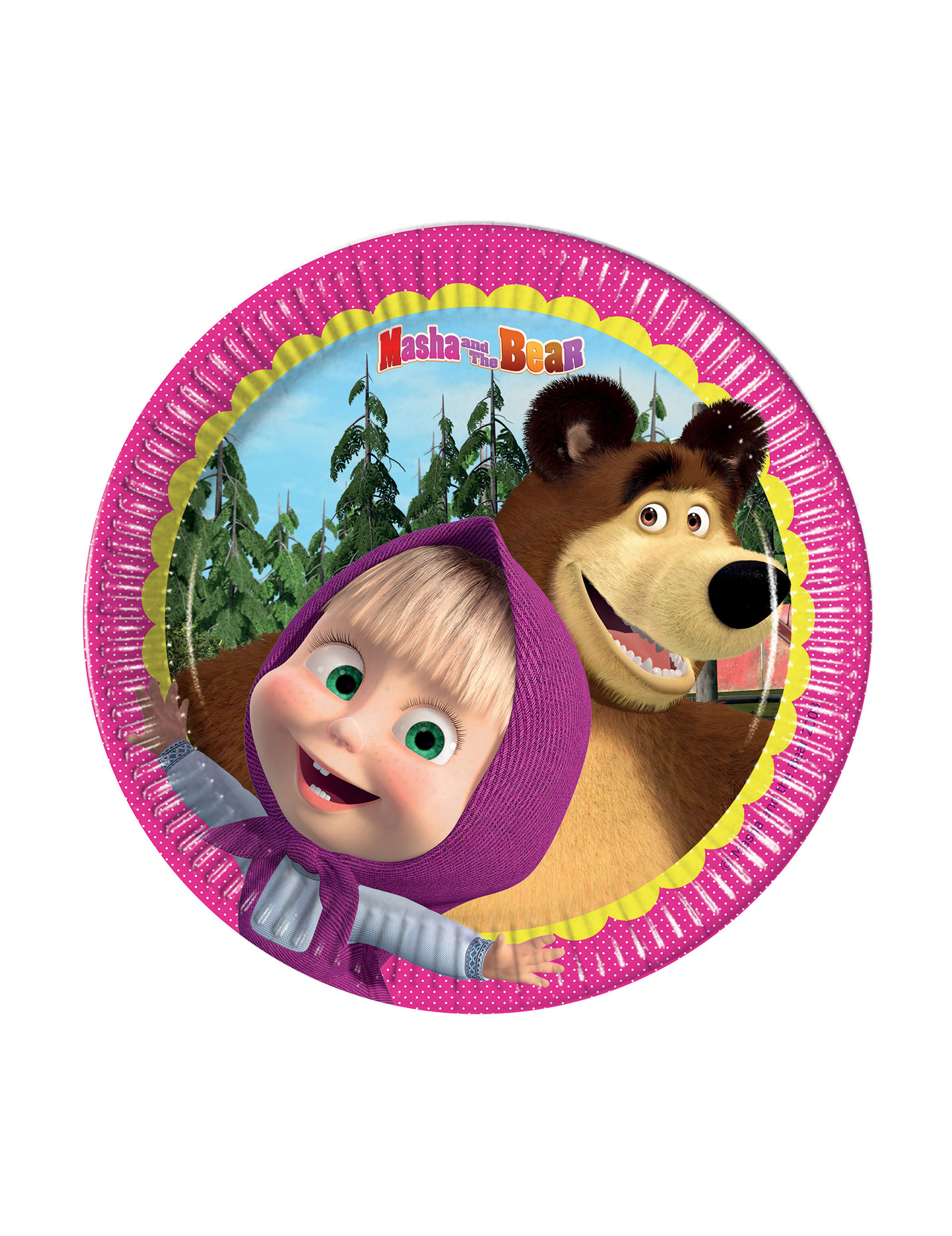 Рождением мужчине, маша и медведь картинка на торт круглая